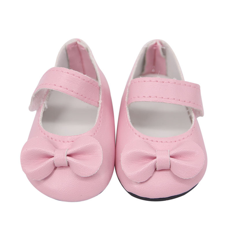 Best Selling Handmade Bow Shoes For 18-inch American Girls Fashion Doll Shoes