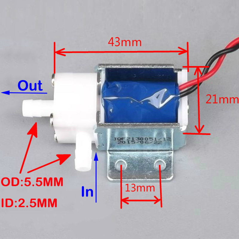 Massager DC 12V Micro Electric Solenoid Valve Normally Open N//O for Water Pump