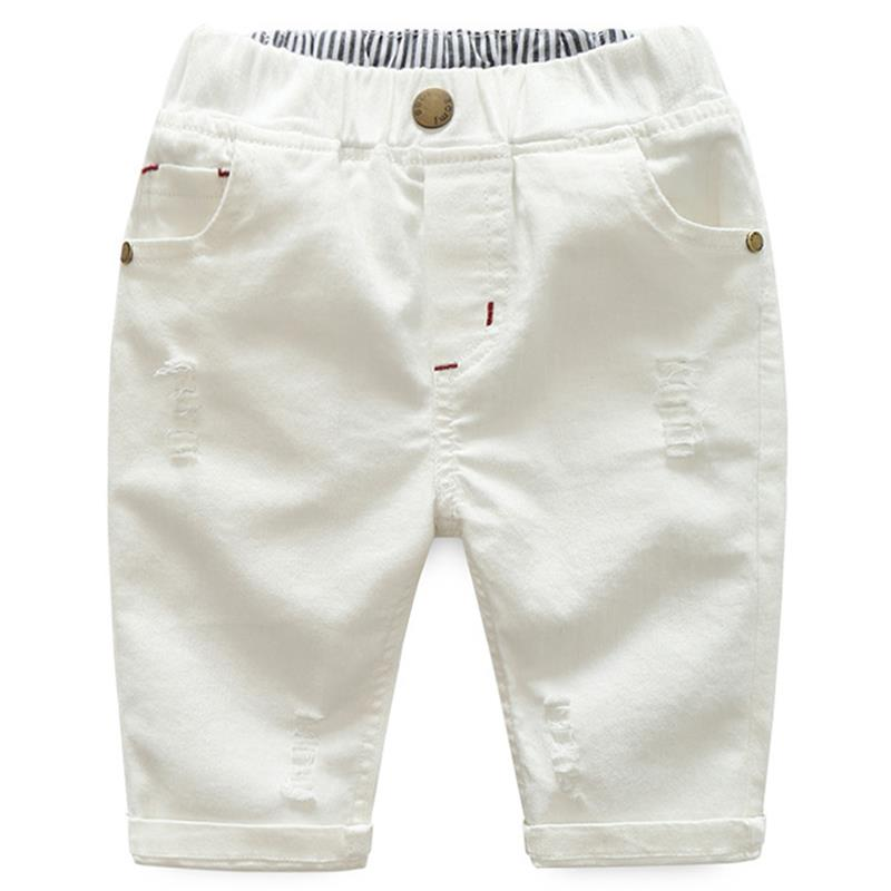 New Size 3-10Y Boys Girls Jeans Kids Fashion Pocket Casual  Trouser Pants