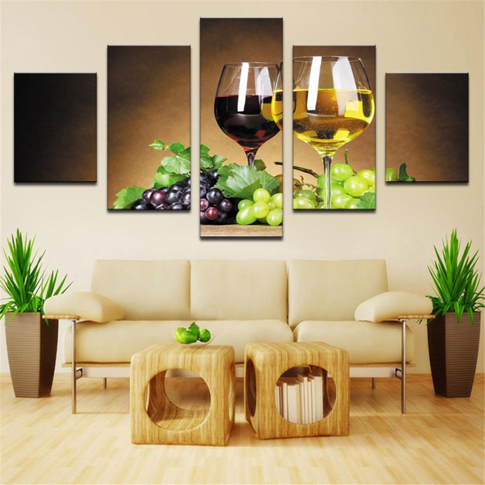 NEW 5PCS Modern Art Oil Paintings Canvas Print Wall Unframed ...