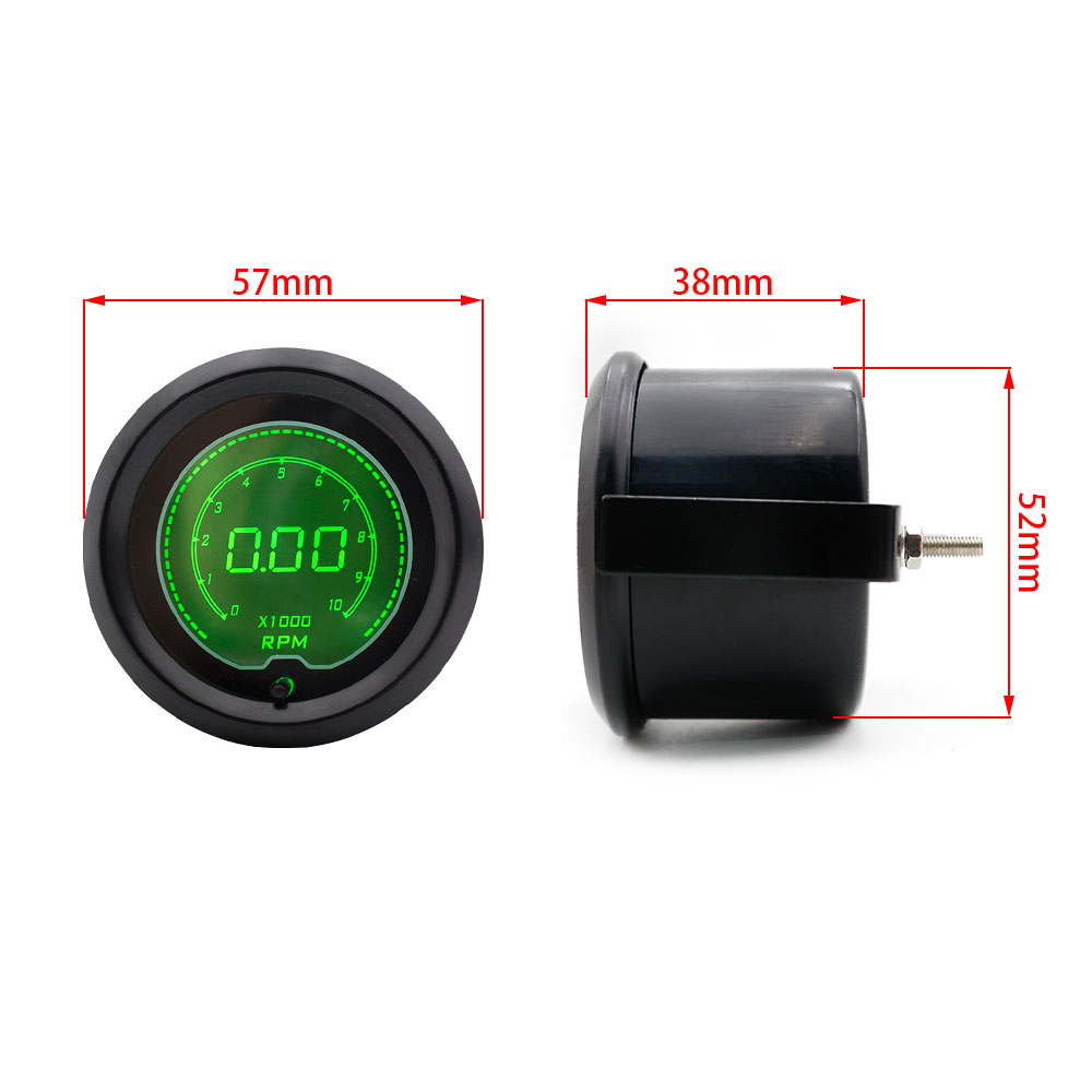 2 U0026quot  52mm Digital Auto Car Tachometer 0