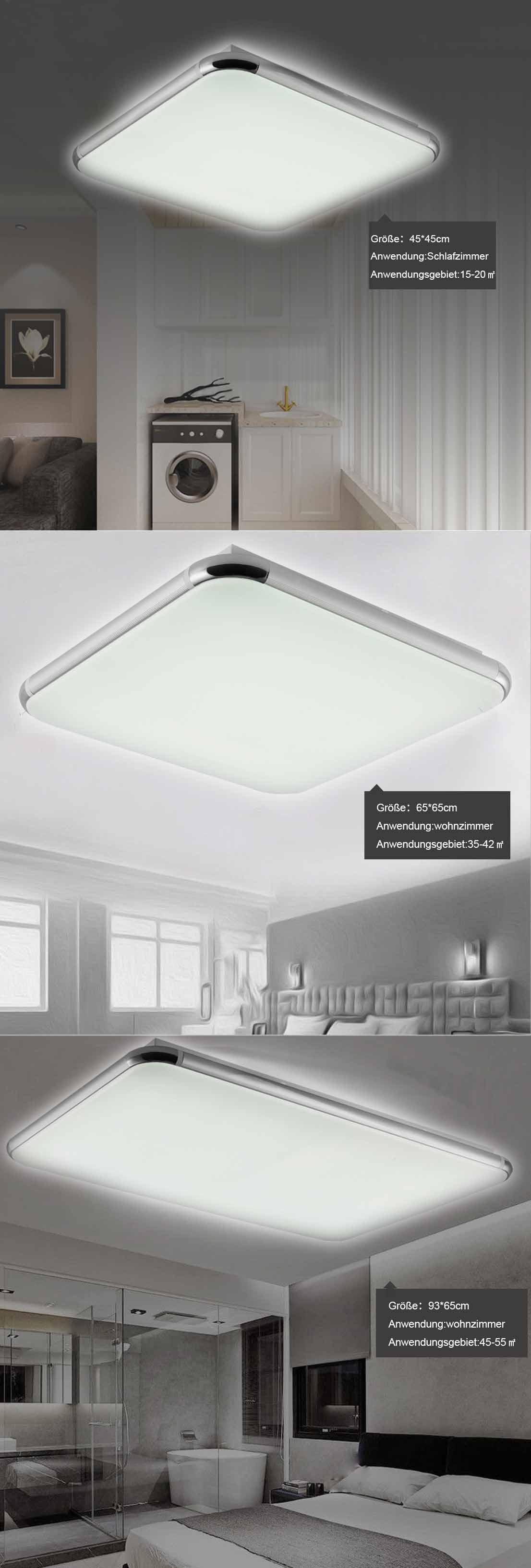 LED Deckenleuchte Dimmbar Badleuchte Küche Deckenlampe Wohnzimmer ...
