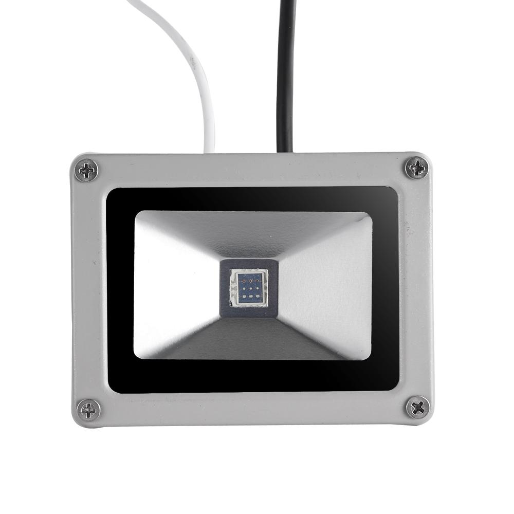 2x dimmbar 10w rgb led fluter mit fernbedienung au en strahler farbwechsel lampe ebay. Black Bedroom Furniture Sets. Home Design Ideas