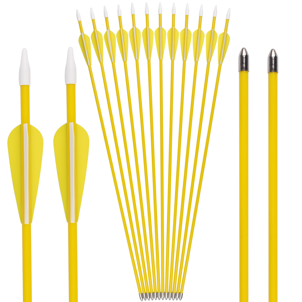 """US 12Pcs 28/"""" Archery Target Arrows w//Steel Tip SP700 F Recuve Bow Hunting"""