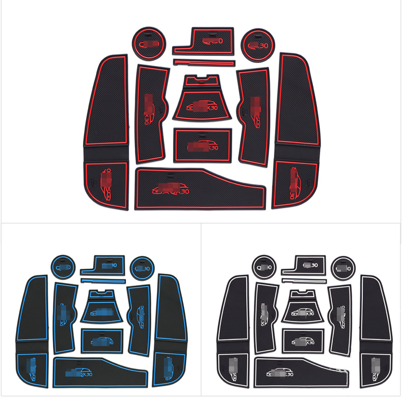 High Quality Interior Non-slip Door Cup Holder Rubber Mats For Jeep Compass 2014