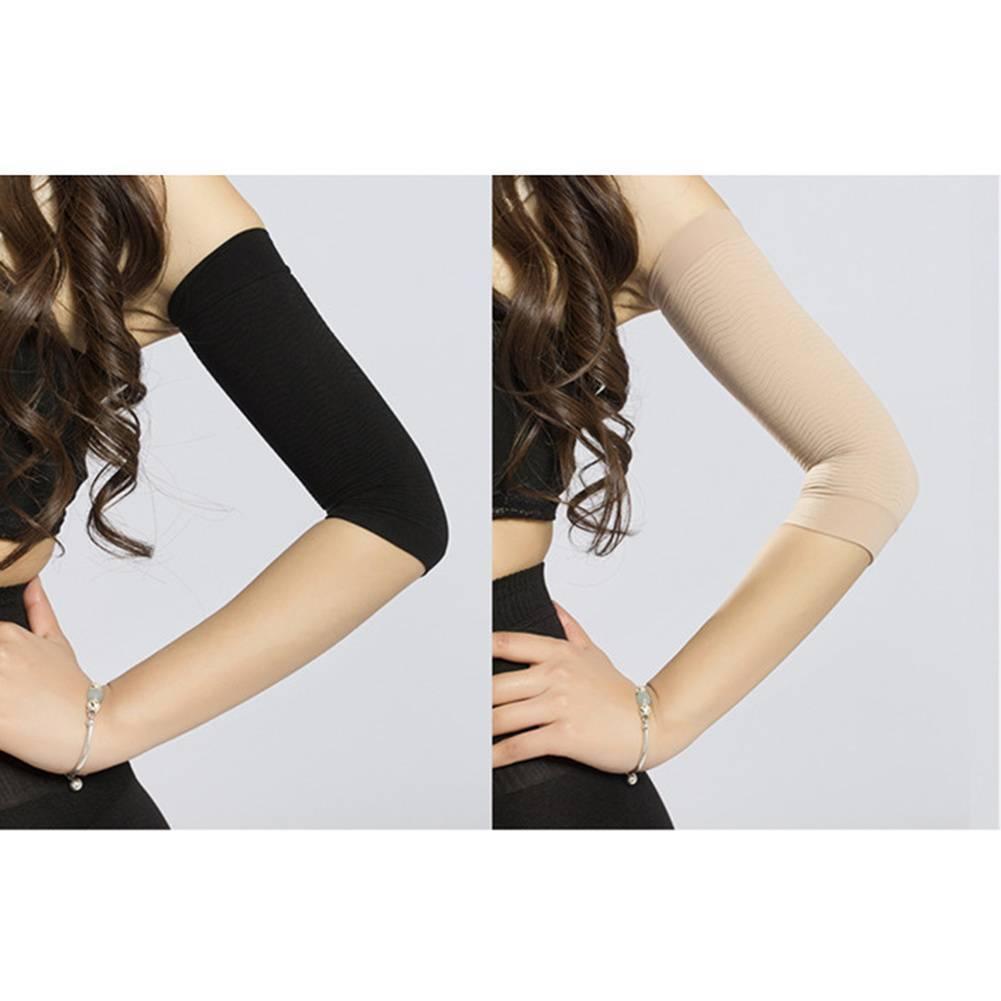 31ff3a8eca489 1 Pair Women Beauty Slimming Upper Arm Shaper Arm Shapewear Sleeve Sleep  Wraps