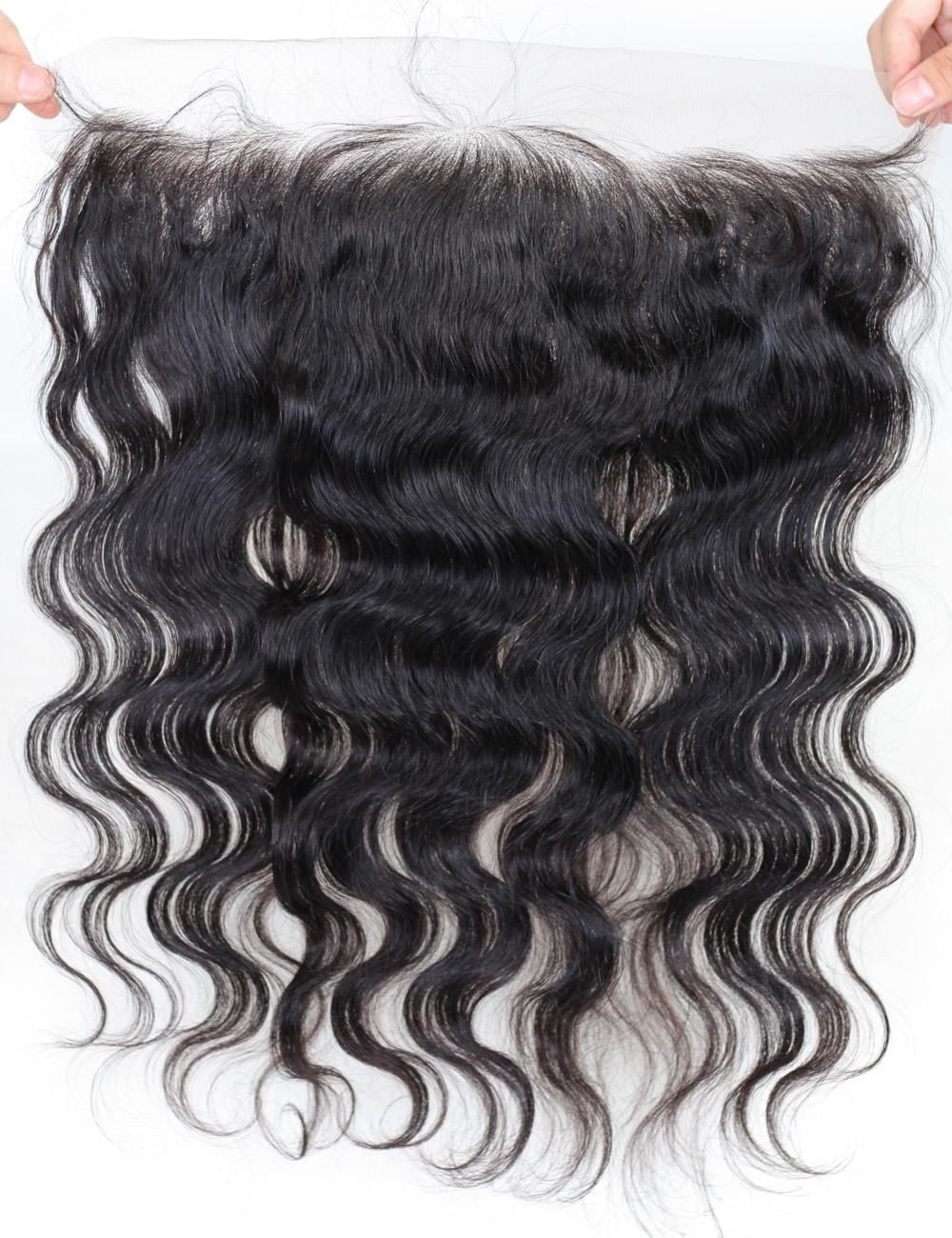 Virgin Human Hair Lace Frontal Wigs (1)