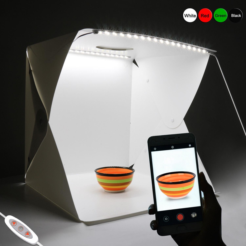 Photo Studio Photography Lamp Light Box Lighting Room with 4 Backdrop Mini Cube