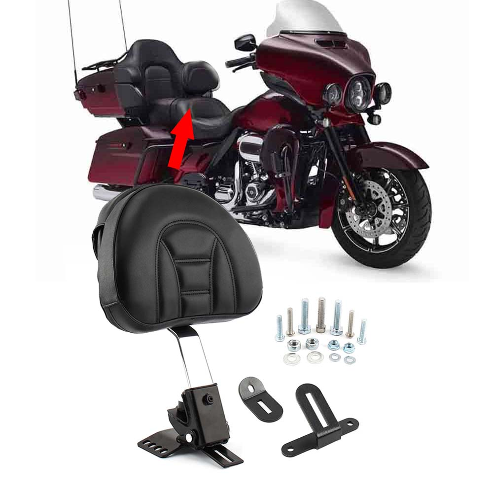 For Harley Touring FLTR FLHT 97-16 Chrome Plug-In Driver Rider Backrest Kit