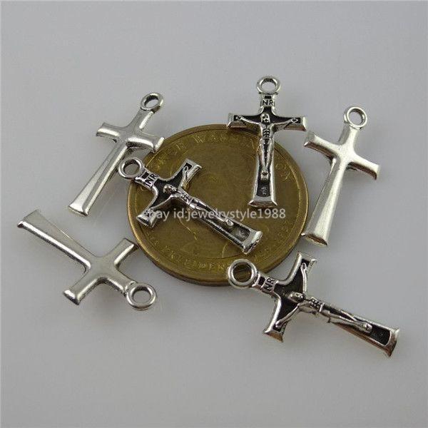 12098 50PCS Alloy INRI Iesus Nazarenus Rex Iudaeorum Jesus Cross Pendant