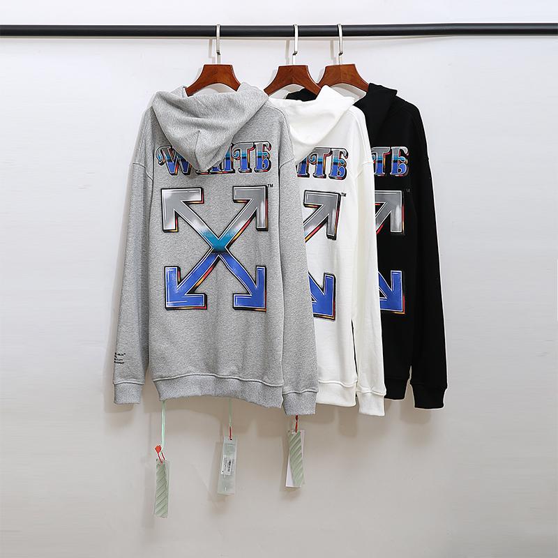 FW17 Off-White Women Men Unisex C//O Virgil Diagonal Arrows Hoodies Sweatshirts