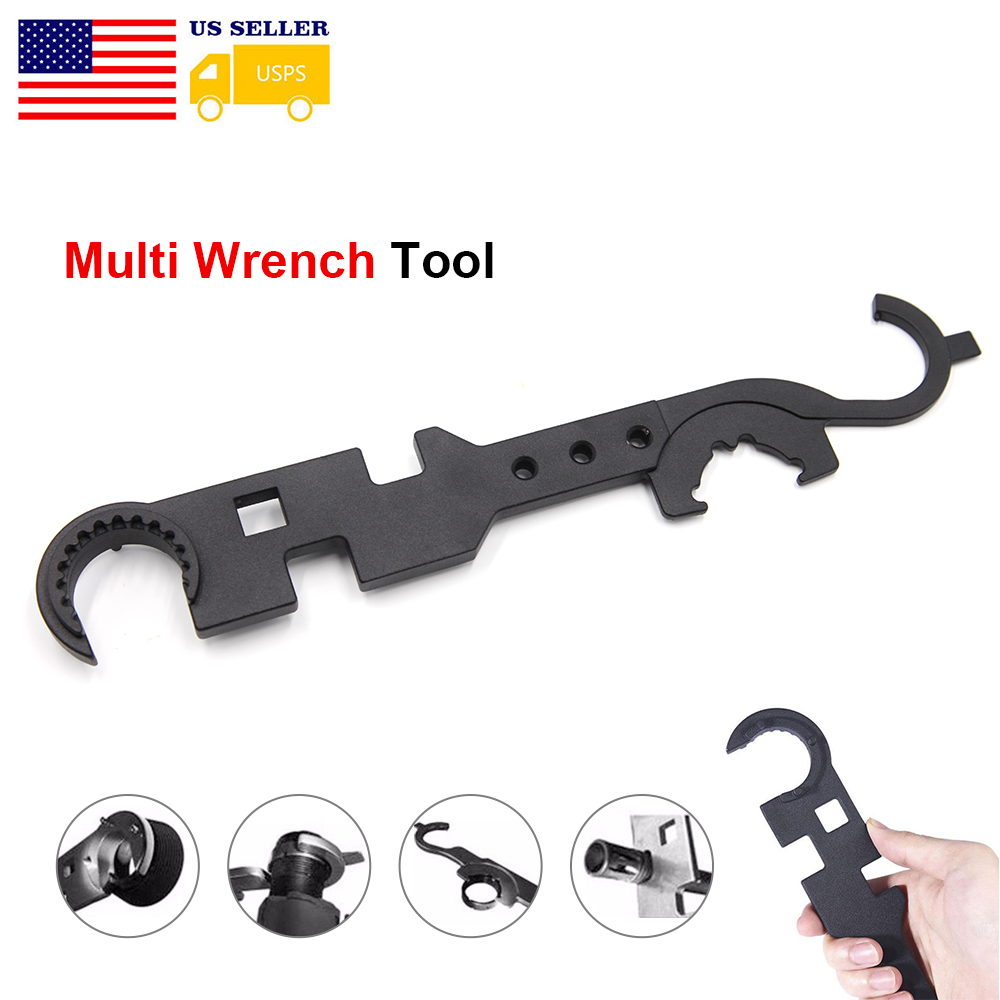 AR15//M4 Combat Wrench Tools Steel Spanner Multi-Function Barrel Wrenchs Tool Kit