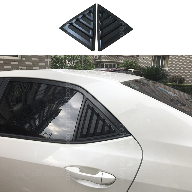 2x Rear Quarter Panel Window Side Louvers Vent Cover Trim For Toyota Camry 2018