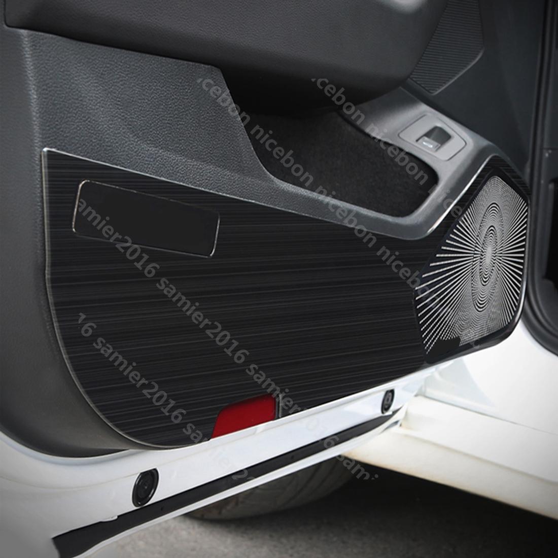 Automotive Mouldings Trim Black Titanium Interior Door Armrest Stripe Cover For Volkswagen Jetta 2019 2020