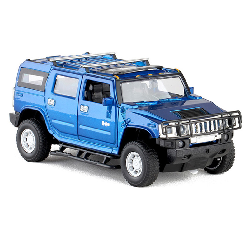 Hummer H2 Off Road Suv 1 32 Scale Model Car Diecast Toy Vehicle Blue