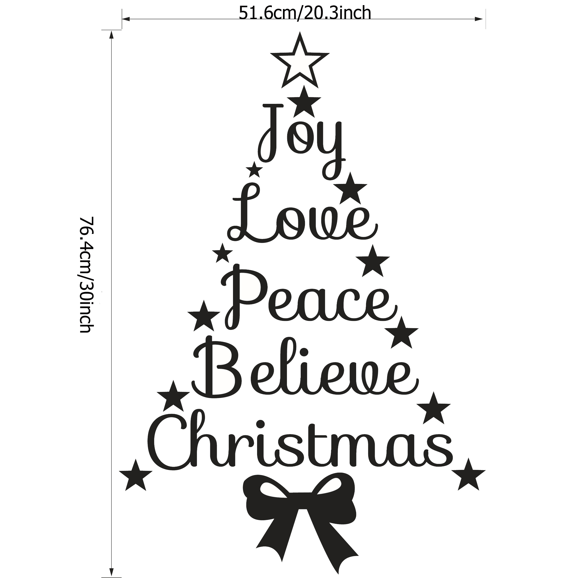 Love And Peace Quotes Christmas Quotes Tree Love Peace Wall Stickers Decals Home Decor