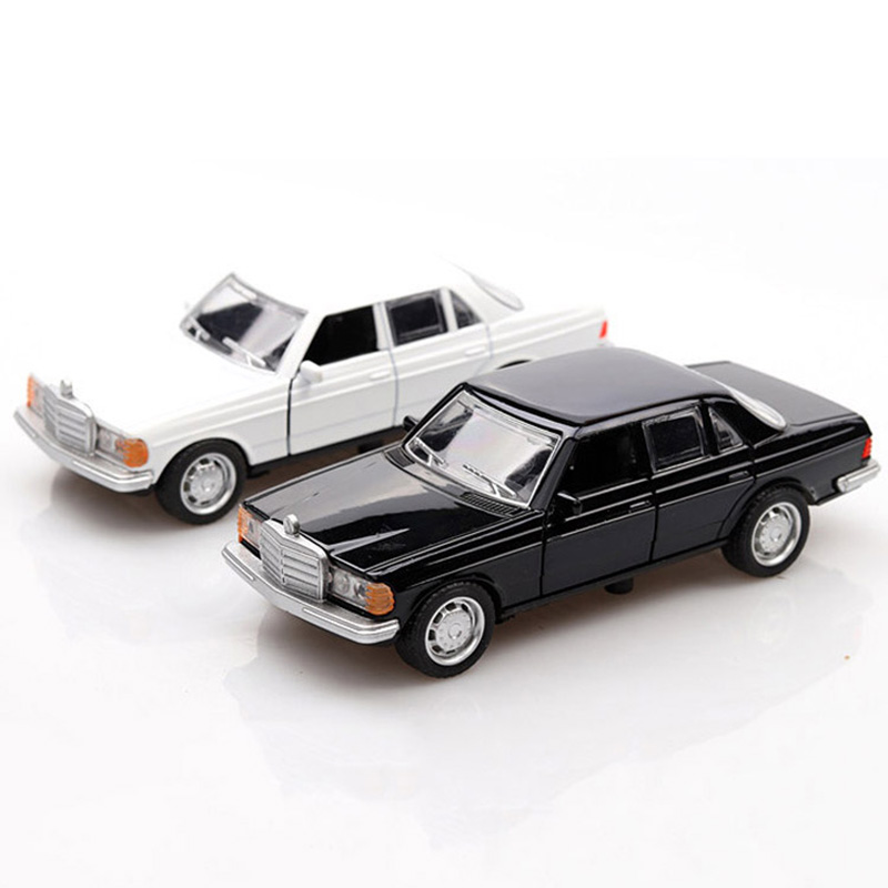 Vintage Mercedes-Benz W123 1:36 Model Car Diecast Gift Toy Vehicle White Kids