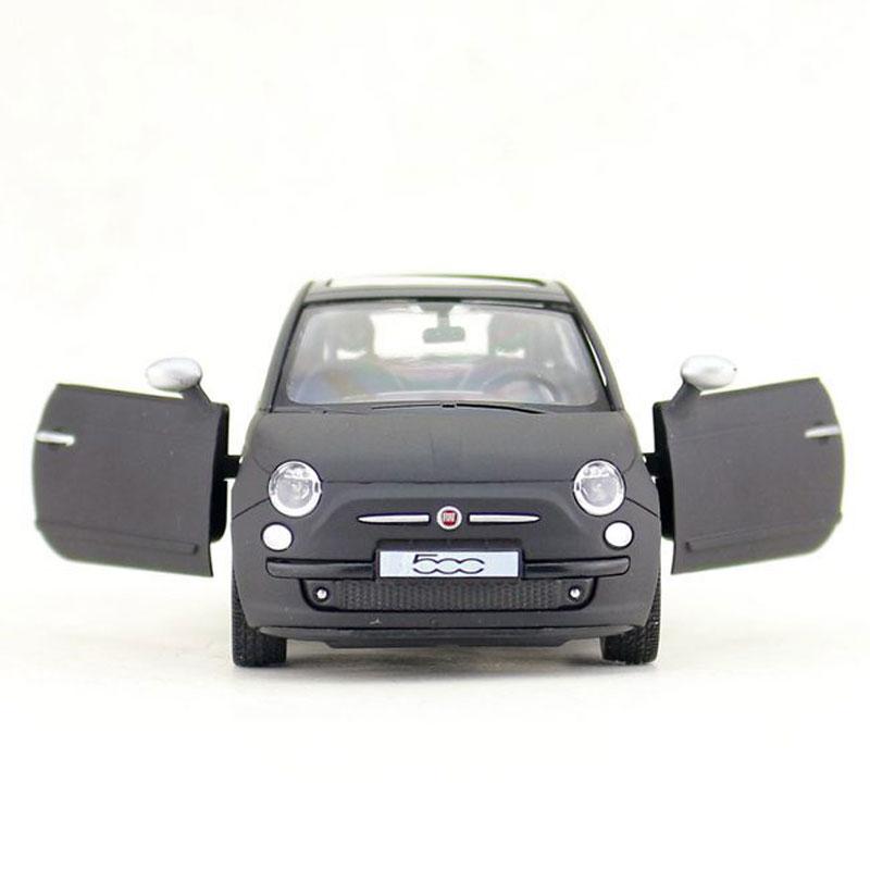 1:30 Fiat 500 Metall Die Cast Modellauto Auto Spielzeug Model Sammlung Schwarz