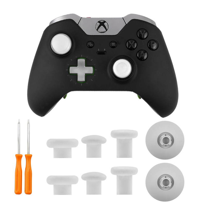 6 PCS Replacement Analog Thumbstick Mod Kit for Xbox One S Elite PS4 ...