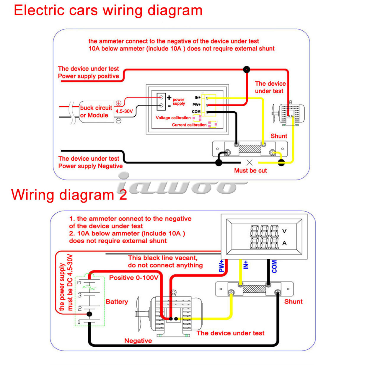 digital volt gauge wiring diagram wiring library red blue led yb27va 0 100v 10a motorcycle digital dc amp meter volt gauge