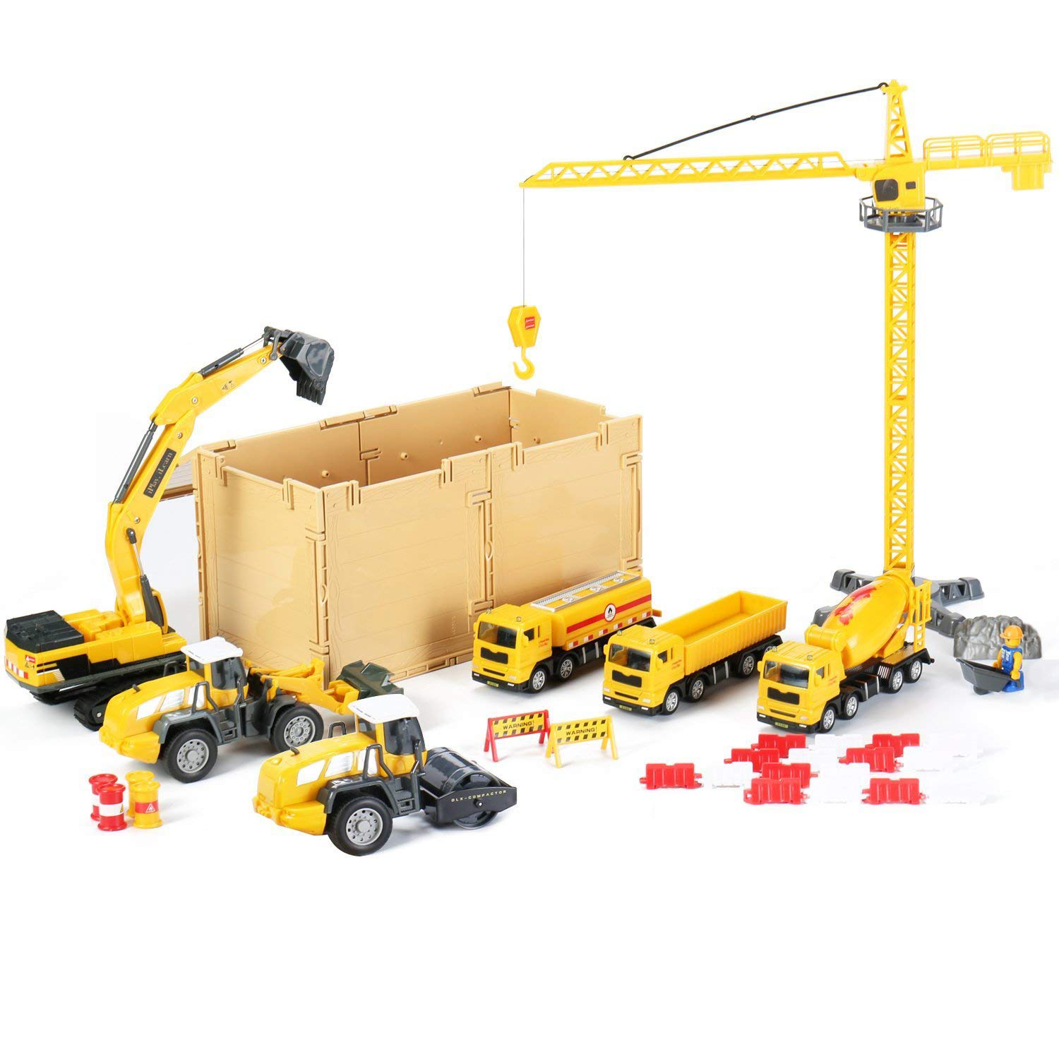 Construction Site Vehicles Toy Set,Engineering Playset ...