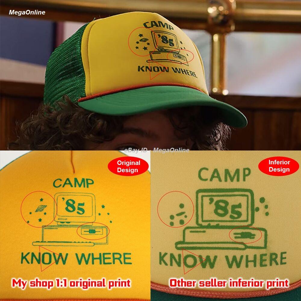 60e8f5e1b Details about 2019 STRANGER THINGS 3 Dustin Hat Retro Mesh Trucker Cap Camp  85 Know Where