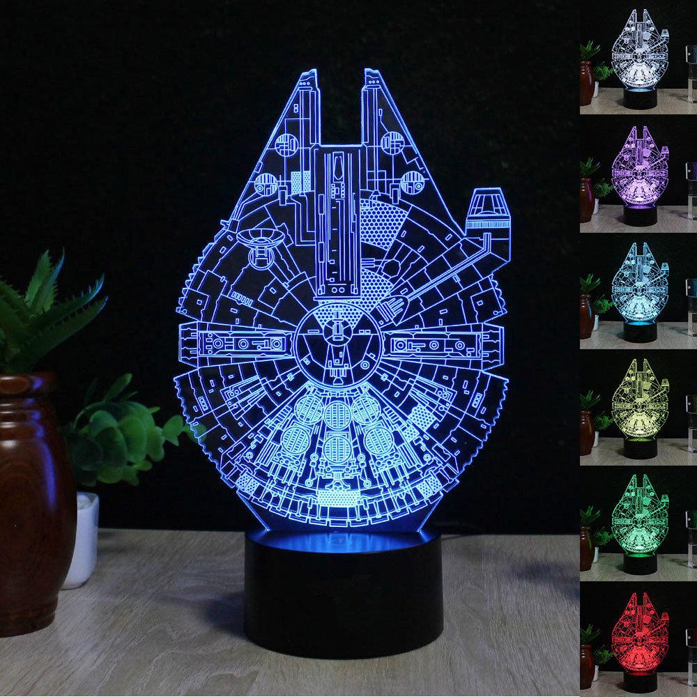 star wars 3d led tischlampe leselampe nachtlicht nachttischlampe 7 farbe ebay. Black Bedroom Furniture Sets. Home Design Ideas
