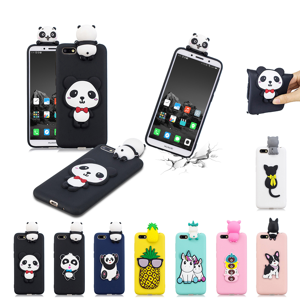 Details about for Huawei Y5 2018 TPU Protective Shockproof Case Cute Soft  Back Cover