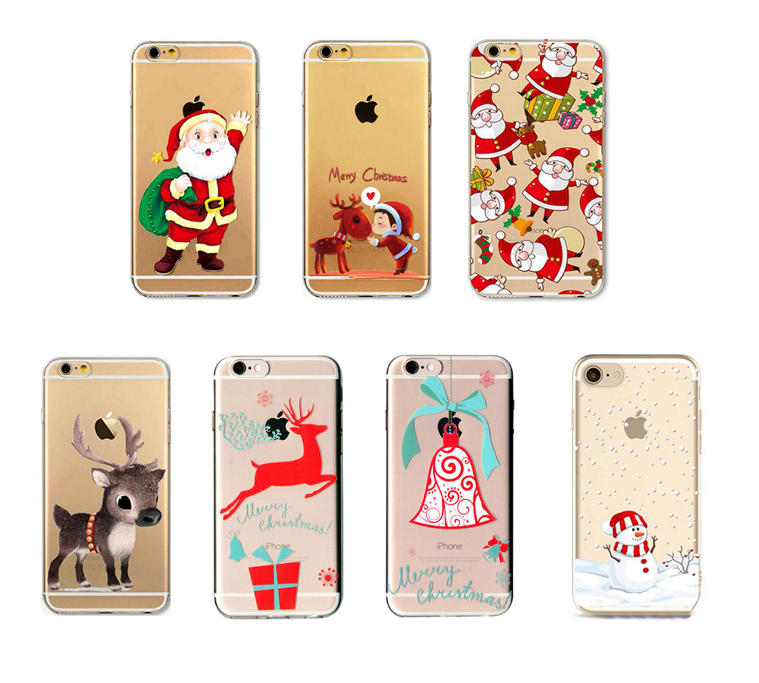 Christmas Festive Santa Reindeer Phone Case Cover For iPhone 5 X SE ...