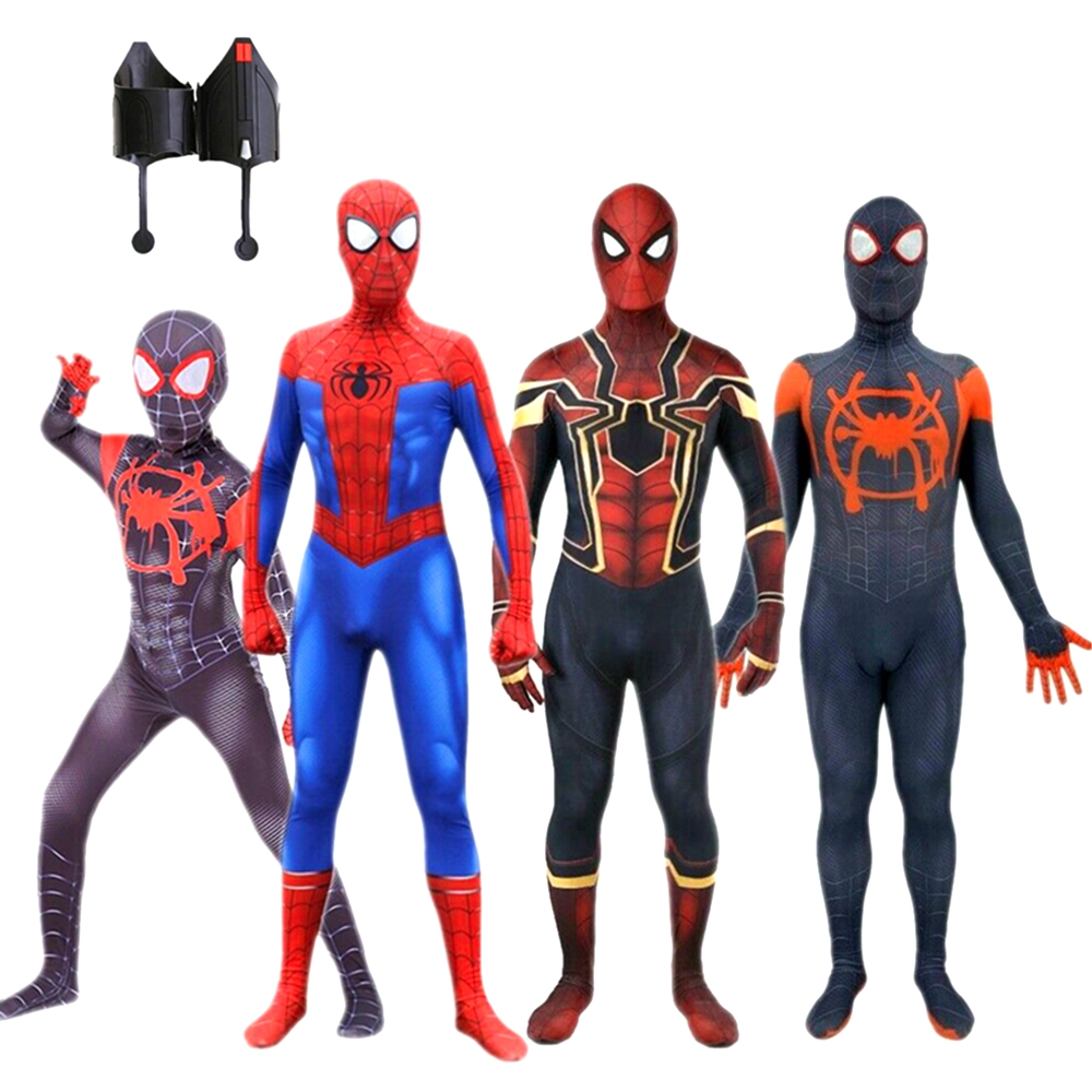 Adult Kid Marvel Superhero Spiderman Outfit Fancy Dress up Party Cosplay Costume