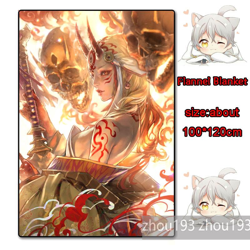 Fate//Grand Order Ibaraki Douji Flannel Plush Travel Blanket Gift 100*120cm#0711