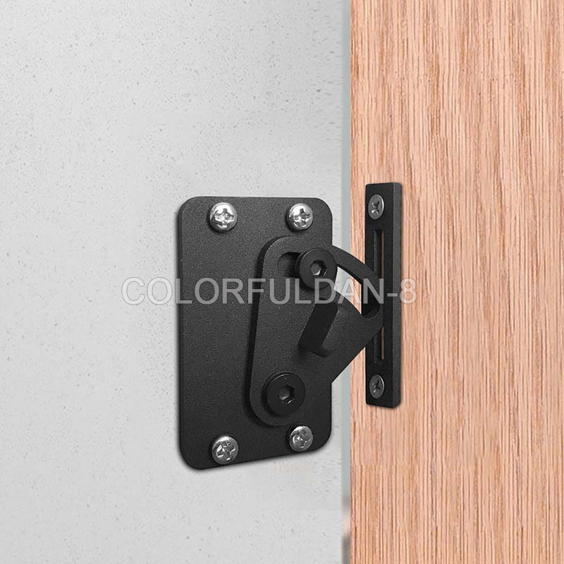 Merveilleux Details About 1PCS Black Sliding Barn Door Locks Stainless Steel Door Barn  Gate Lock Hardware