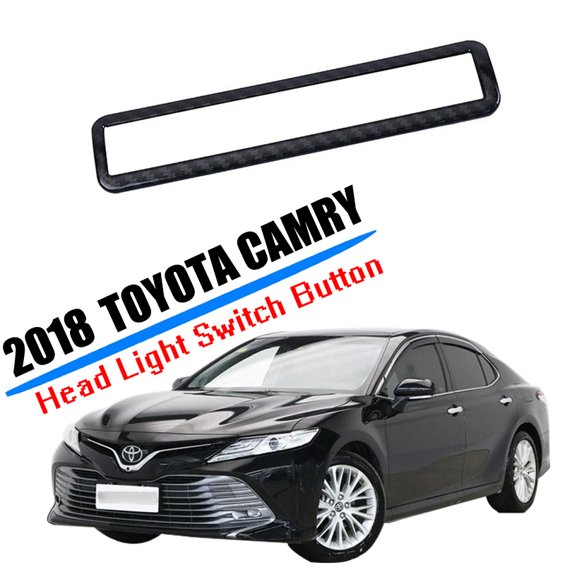 1x Carbon Fiber ABS Interior Trunk Switch Frame Cover Trim for Toyota Camry 2018