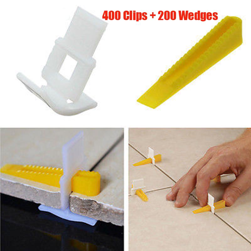 Tile Lesting System Clips Kit Levelling Spacer Tiling Tool Wall Floor