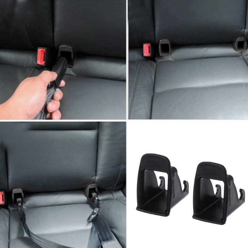 1 Pair Car Baby Seat ISOFIX Latch Belt Connector Plastic Guide ...