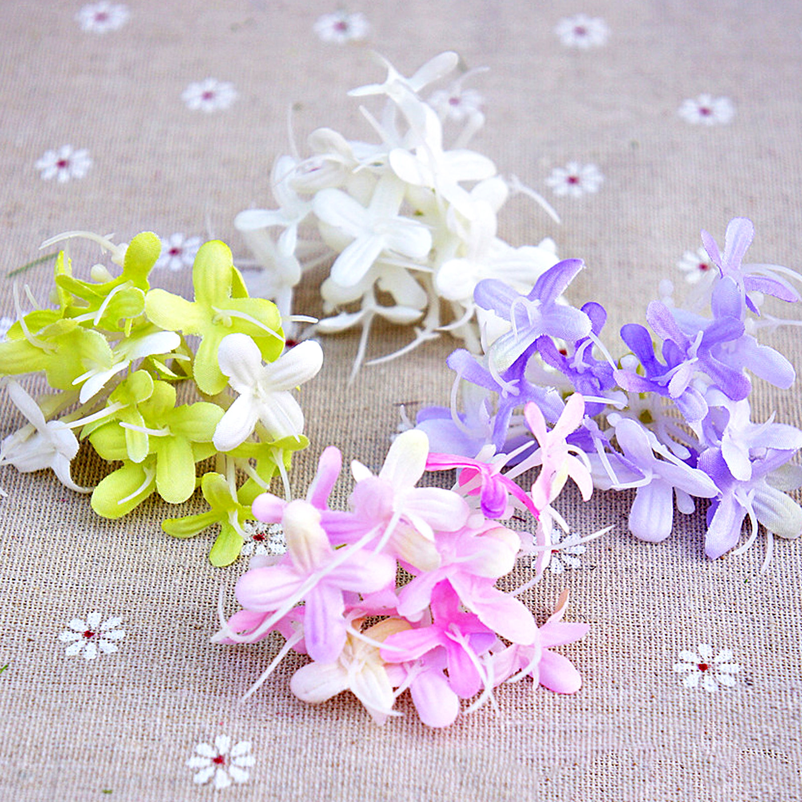 10 200 Artificial Silk Hydrangea Heads Diy Small Silk Flower Bud