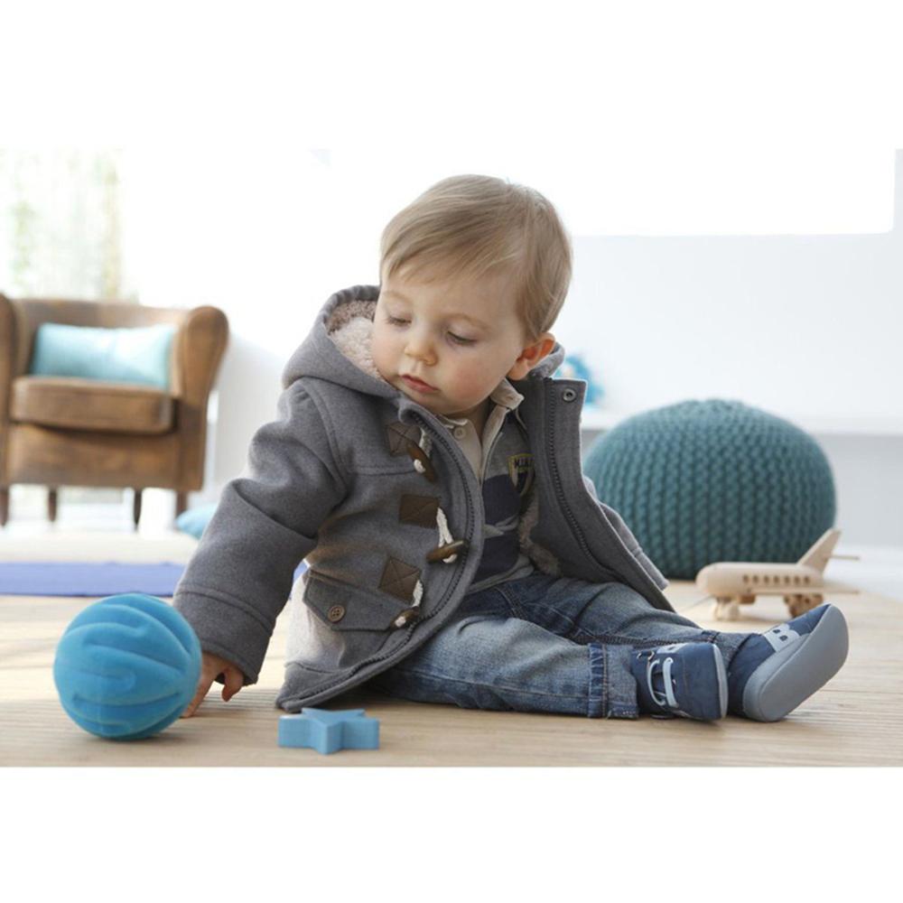 baby warm fleece hooded coat horn button outerwear boy snowsuit toddler jacket ebay. Black Bedroom Furniture Sets. Home Design Ideas