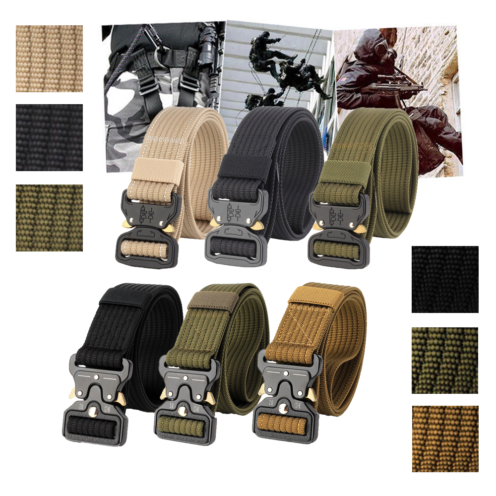 Details about Men's Tactical Military Training Heavy Duty Nylon Quick  Release Rigger's Belt