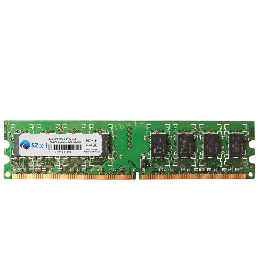 2GB PC2-6400 DDR2 800Mhz NON-ECC 240pin Desktop Memory For Intel