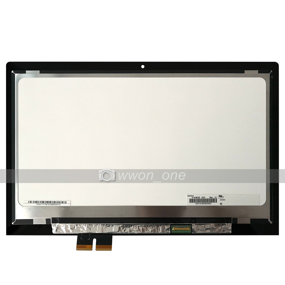 Laptop Lcd Screen For Lenovo Flex 2 14 1366x768 Lcd Display Touch Screen Assembly