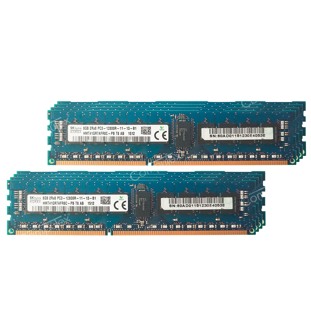 Hynix 64GB 8X8GB 1333MHZ PC3-10600R DDR3 240Pin Server Registered Memory Ram