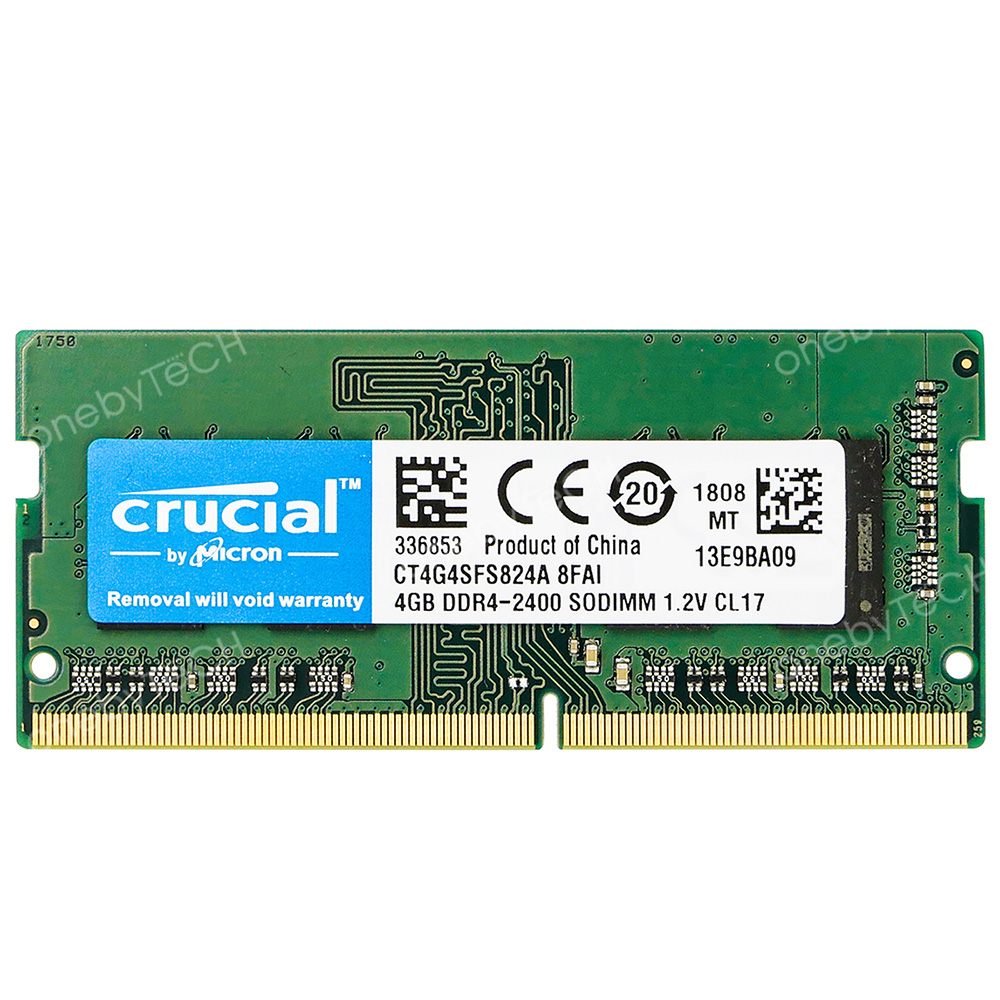 Crucial 4GB 8GB 1Rx16 PC4-2400T DDR4-2400 MHz SODIMM 1.2V CL17 260 Pin Memory
