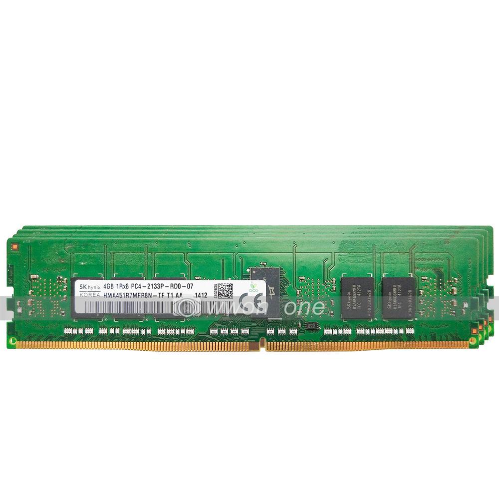 Hynix 16GB 4x4GB 1Rx8 PC4-2133P-R DDR4 2133 PC4-17000 288Pin ECC REG Server RAM