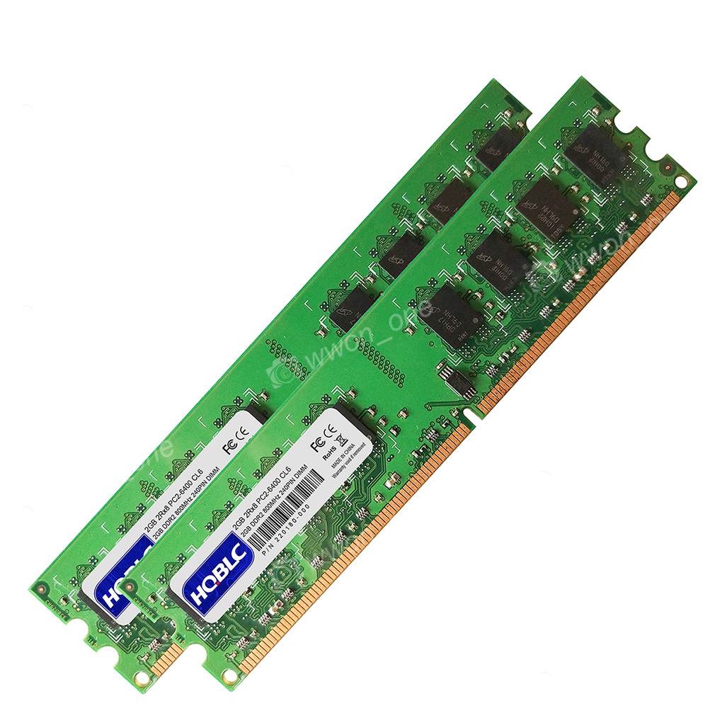 Memory Ram 4 Dell Optiplex Desktop GX960 160 FX160 2x Lot DDR2 SDRAM