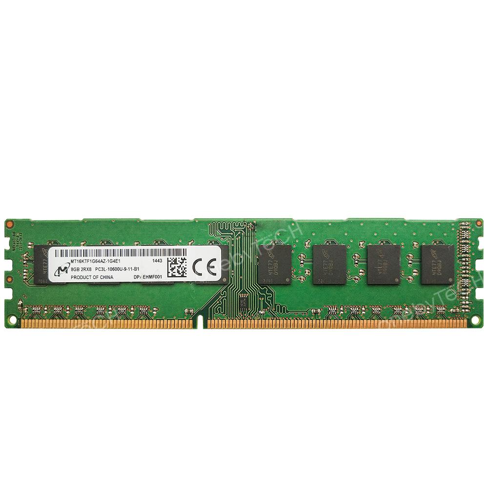 Micron 8GB=2x4GB 2Rx8 PC3-10600 DDR3-1333 240 PIN Desktop Memory NON-ECC Module