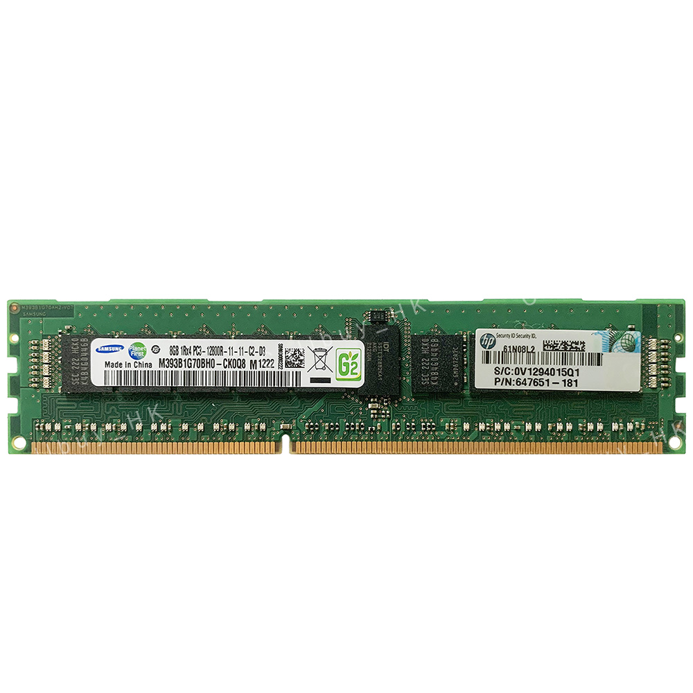 For Samsung 4X 8GB 1RX4 DDR3 1600MHZ PC3-12800R Server Registered ECC REG Memory