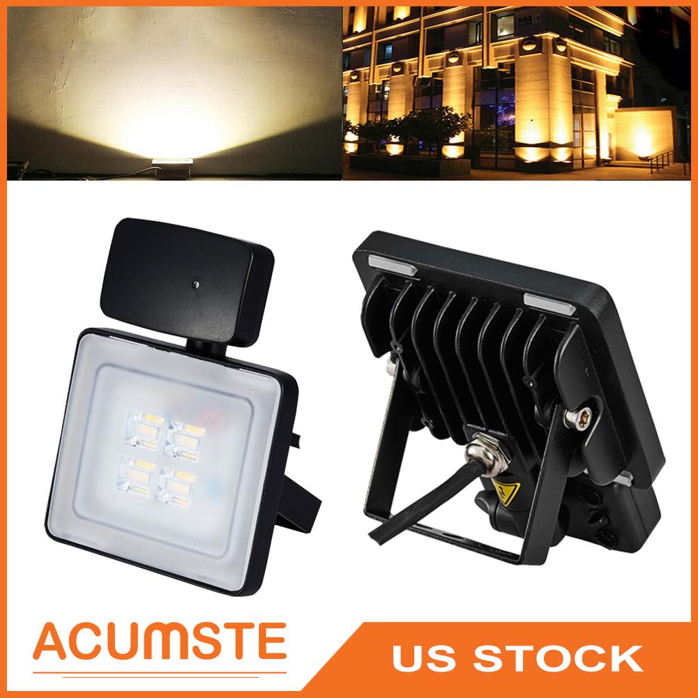 10W LED Flood Light Outdoor Security Lighting Warm White Lamp AC 110V Spotlight