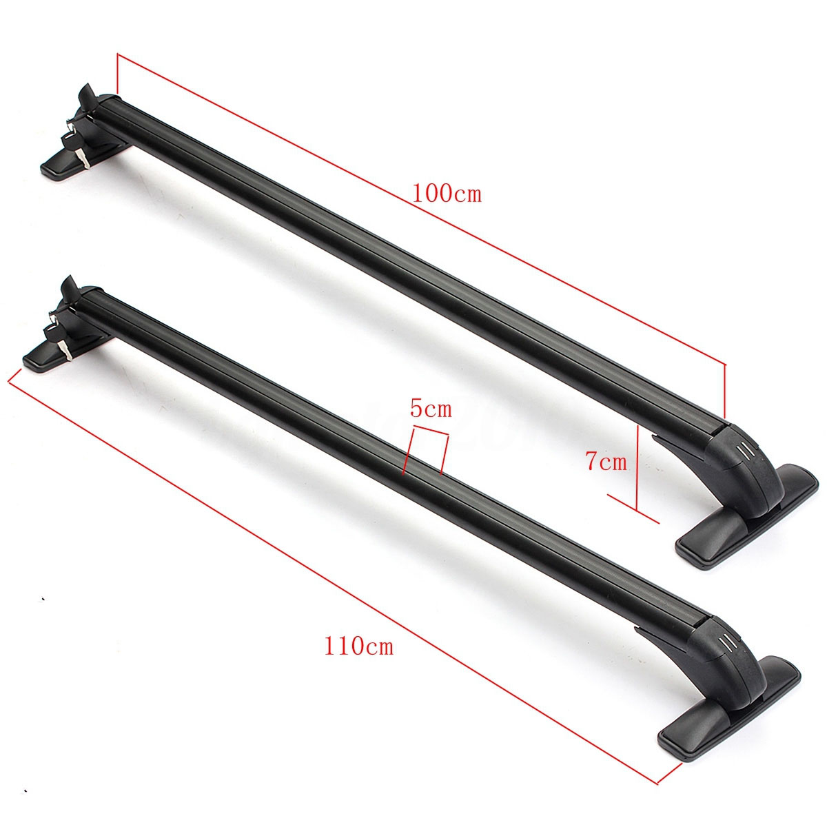Ai CAR FUN Aluminum Alloy Silver Roof Rack Cross Bar Top Roof Rail Luggage Cargo Rack Rails Carrier with Cars for Ford Explorer 2012-2015