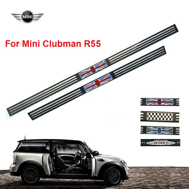 Fits Mini Clubman R55 Tungsten Steel Entry Door Sill Trim Strip 5
