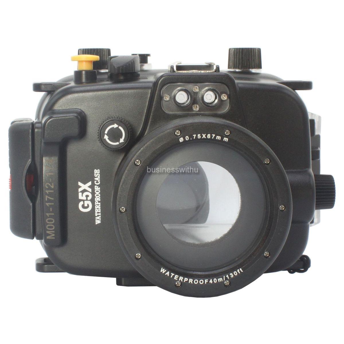 40m 130ft Underwater Diving Waterproof Case Cover For Canon Powershot G5x Kamera Pocket